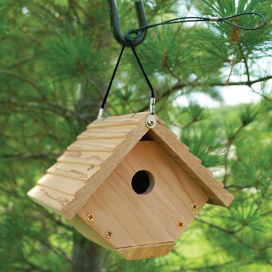 WoodLink 7.5-in W x 6.5-in H x 6.9-in D Unfinished Fir Bird House