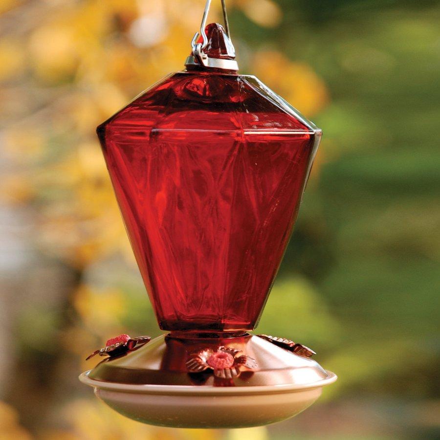 WoodLink Glass Hummingbird Feeder