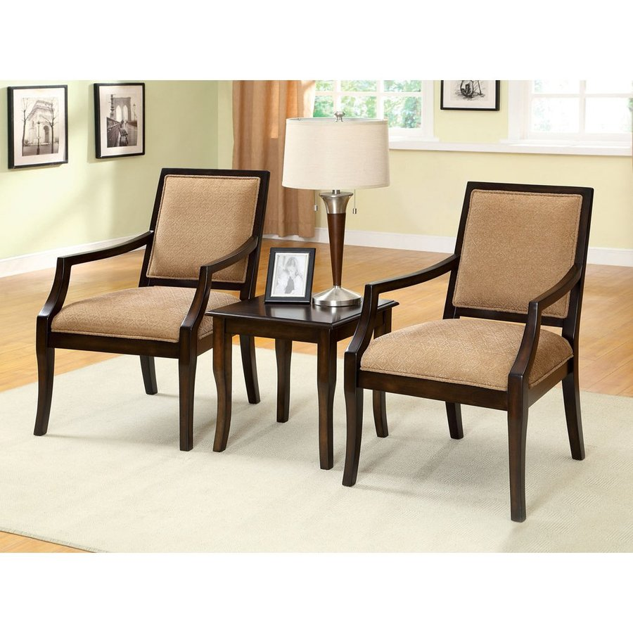 Shop Furniture Of America 3 Piece Boudry Espresso Living Room Set At