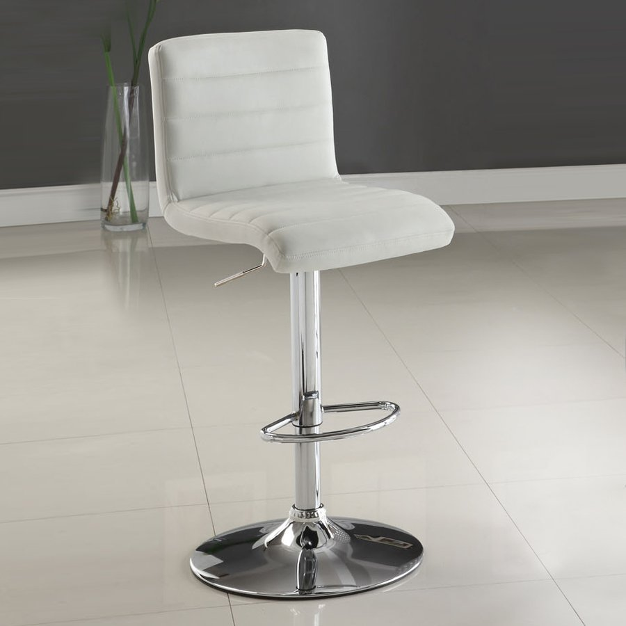 Furniture of America Passore White 42.5-in Adjustable Stool