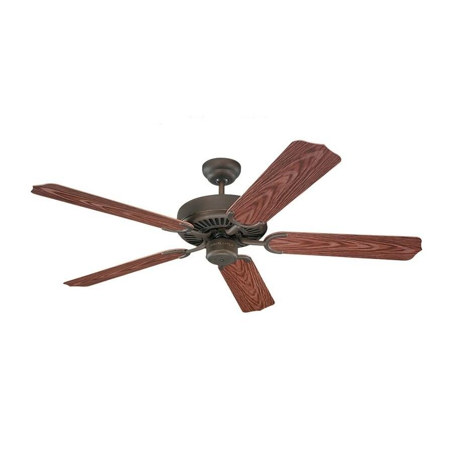 Sea Gull Lighting Panorama 52-in Roman Bronze Downrod Mount Indoor/Outdoor Ceiling Fan (5-Blade)