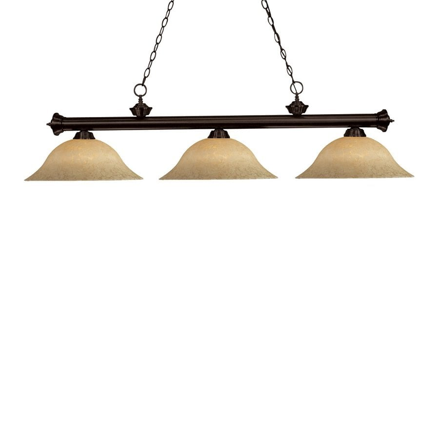 Shop Z-Lite Players Bronze Pool Table Lighting At Lowes.com