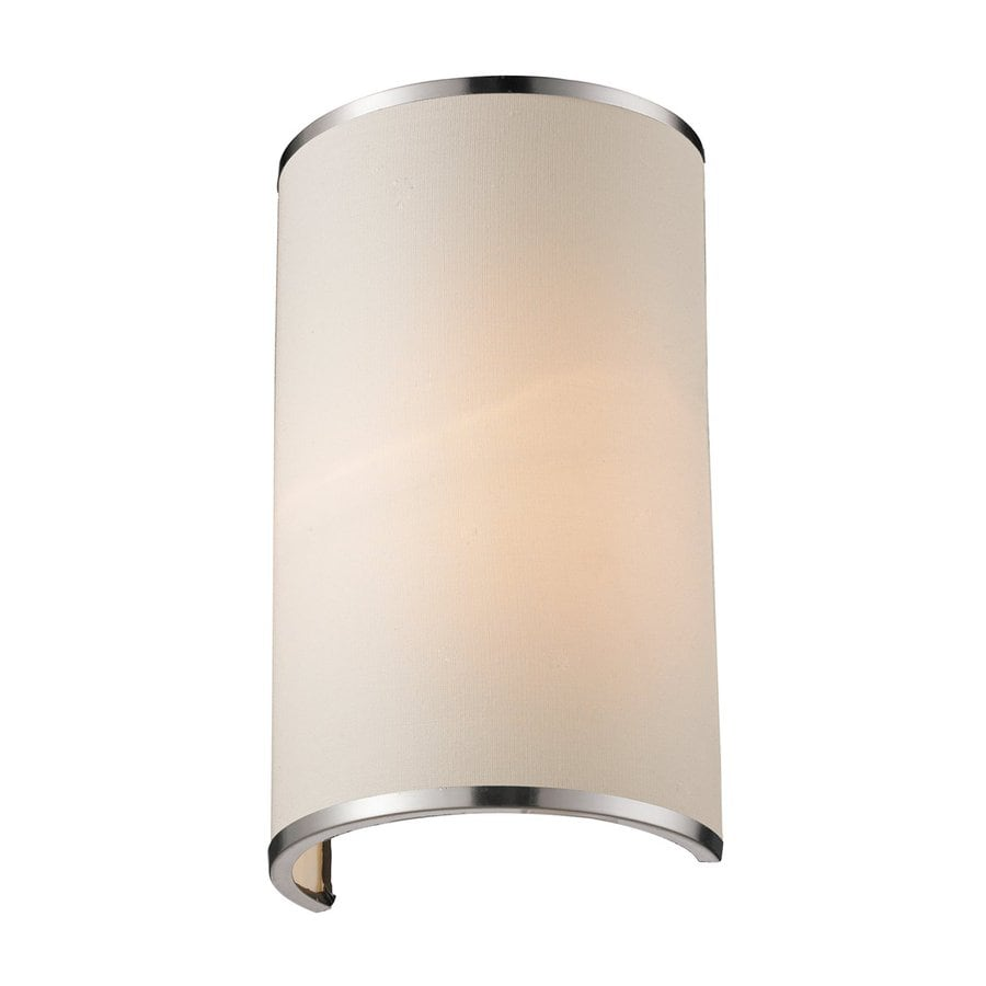 Z-Lite Cameo 6.63-in W 1-Light Brushed Nickel Pocket Wall Sconce