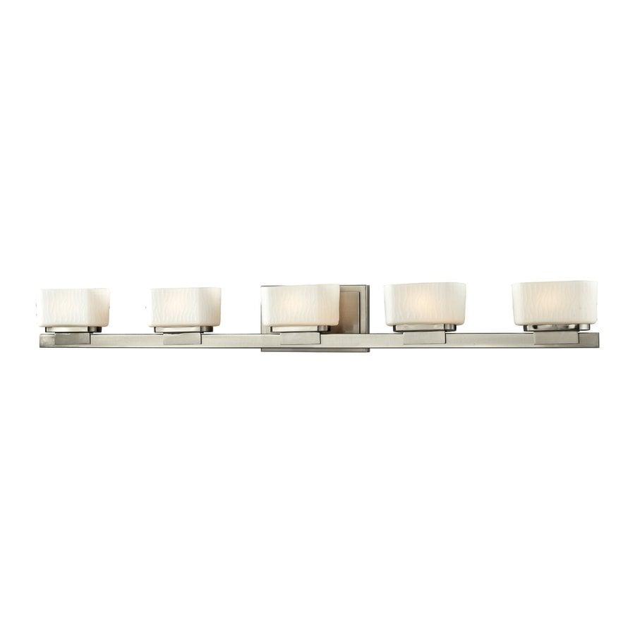 Z-Lite 5-Light Gaia Brushed Nickel Bathroom Vanity Light