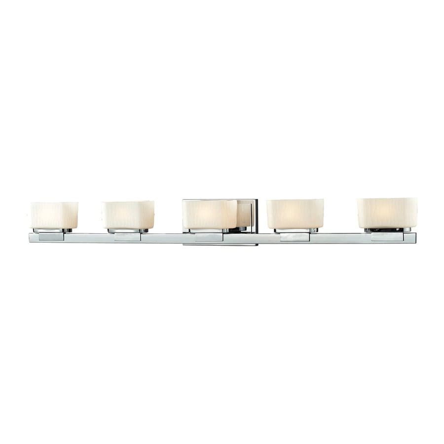 Z-Lite 5-Light Gaia Chrome Bathroom Vanity Light