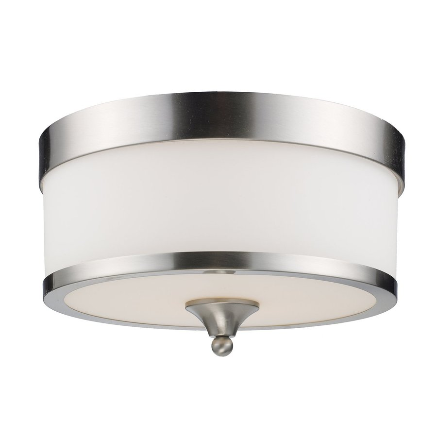 Z-Lite Cosmopolitan 13-in W Brushed Nickel Ceiling Flush Mount Light