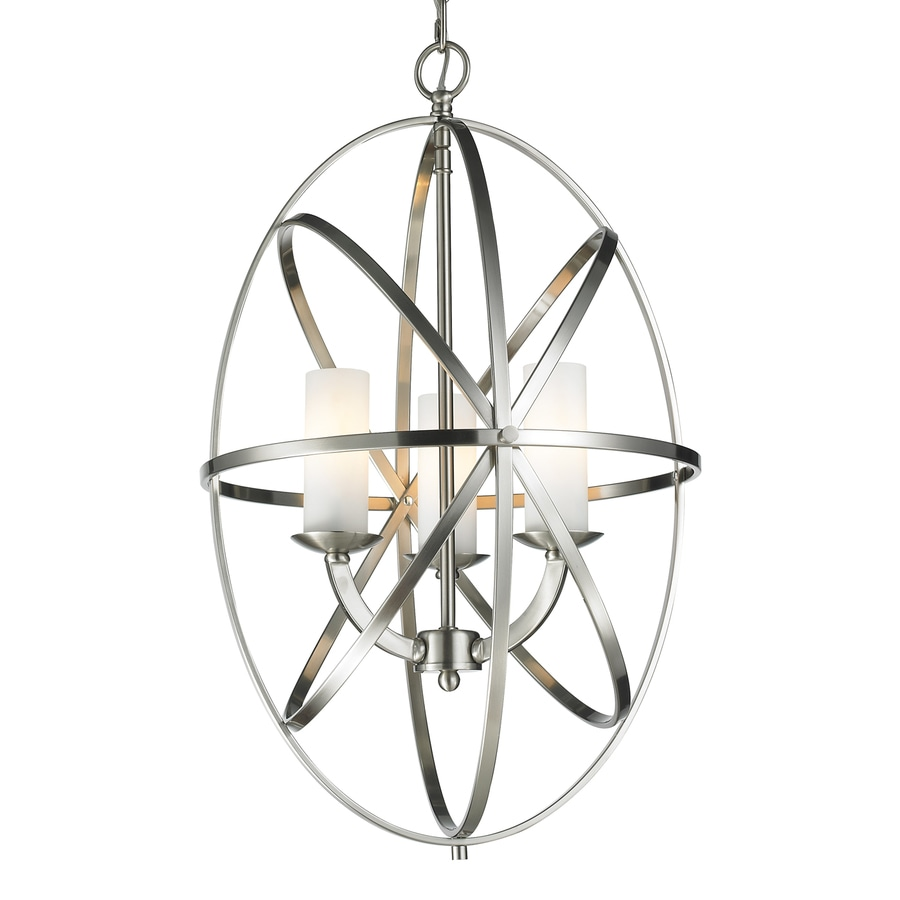 Z-Lite Aranya 16-in 3-Light Brushed Nickel Cage Chandelier