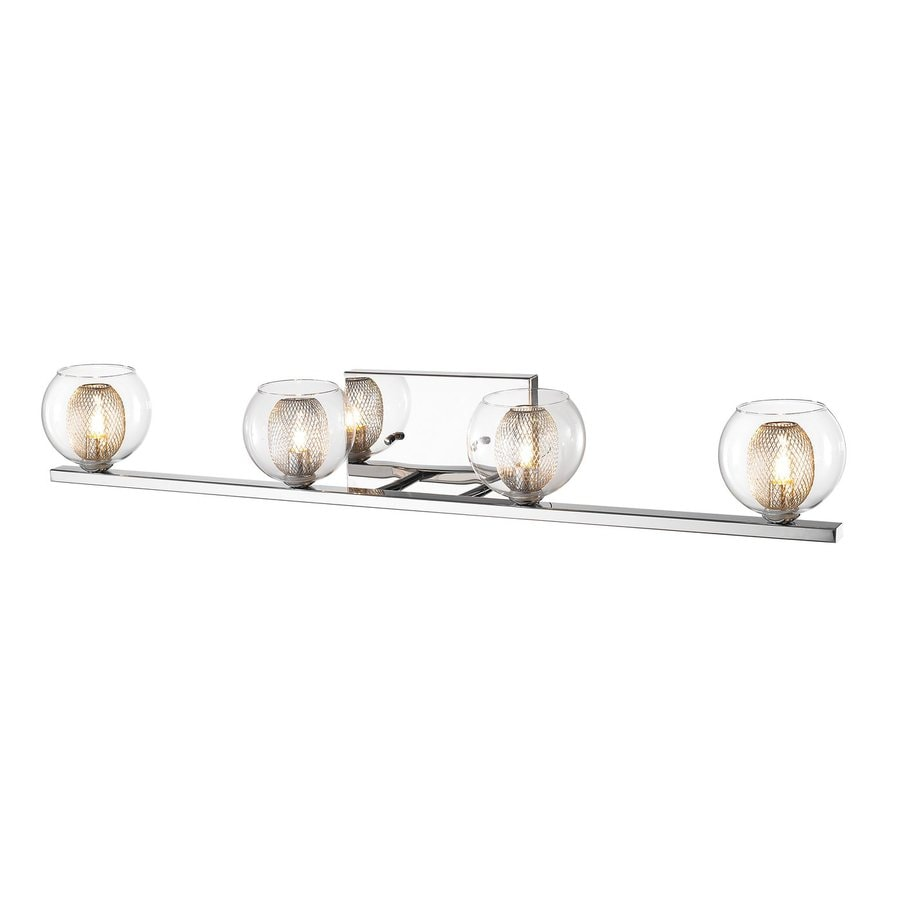 Z-Lite 4-Light Auge Chrome Bathroom Vanity Light