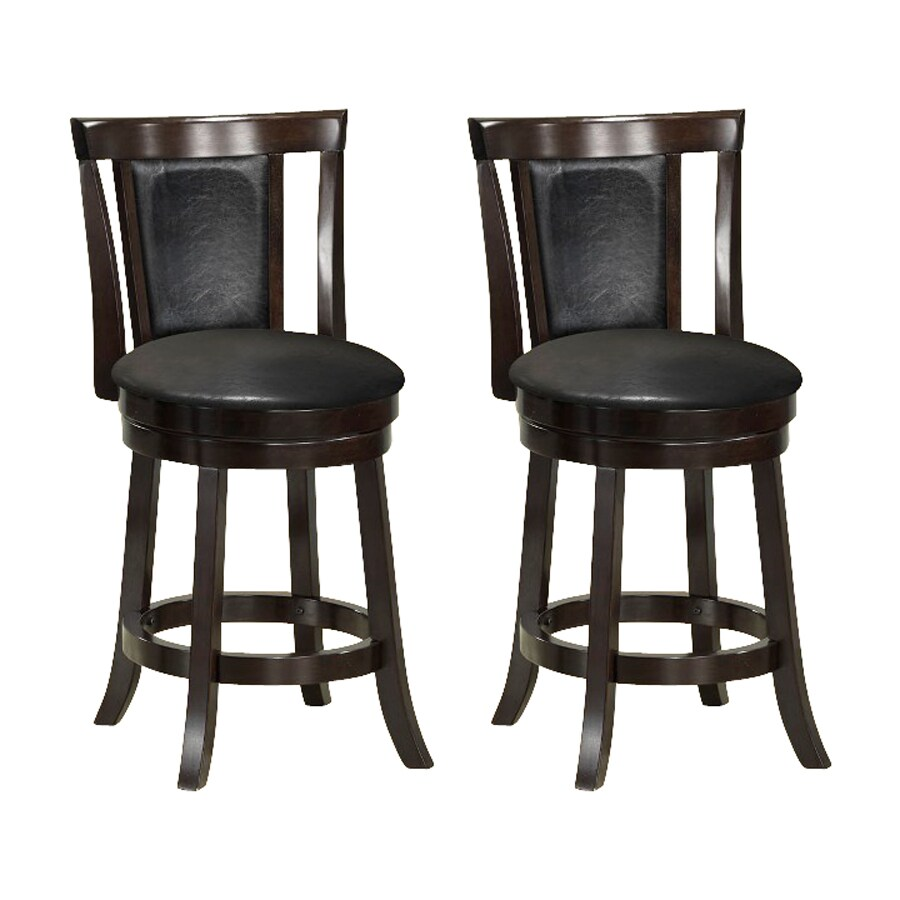 Monarch Specialties Set of 2 Cappuccino 26-in Counter Stool