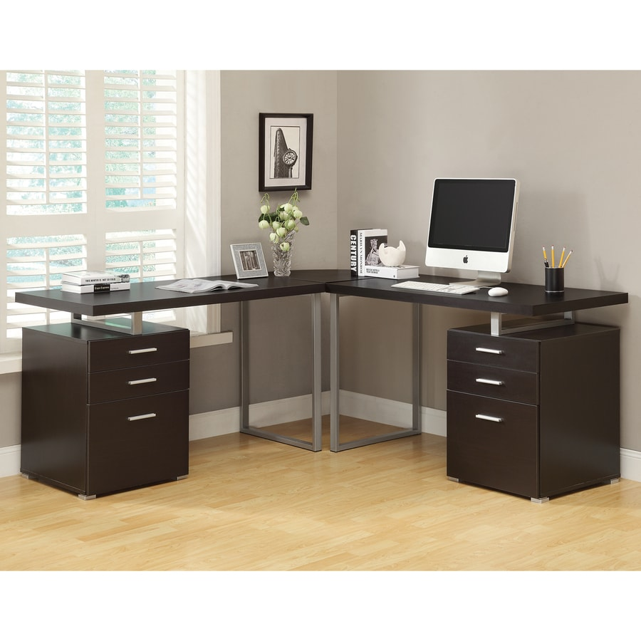 Shop Monarch Specialties Cappuccino L Shaped Desk At Lowes Com