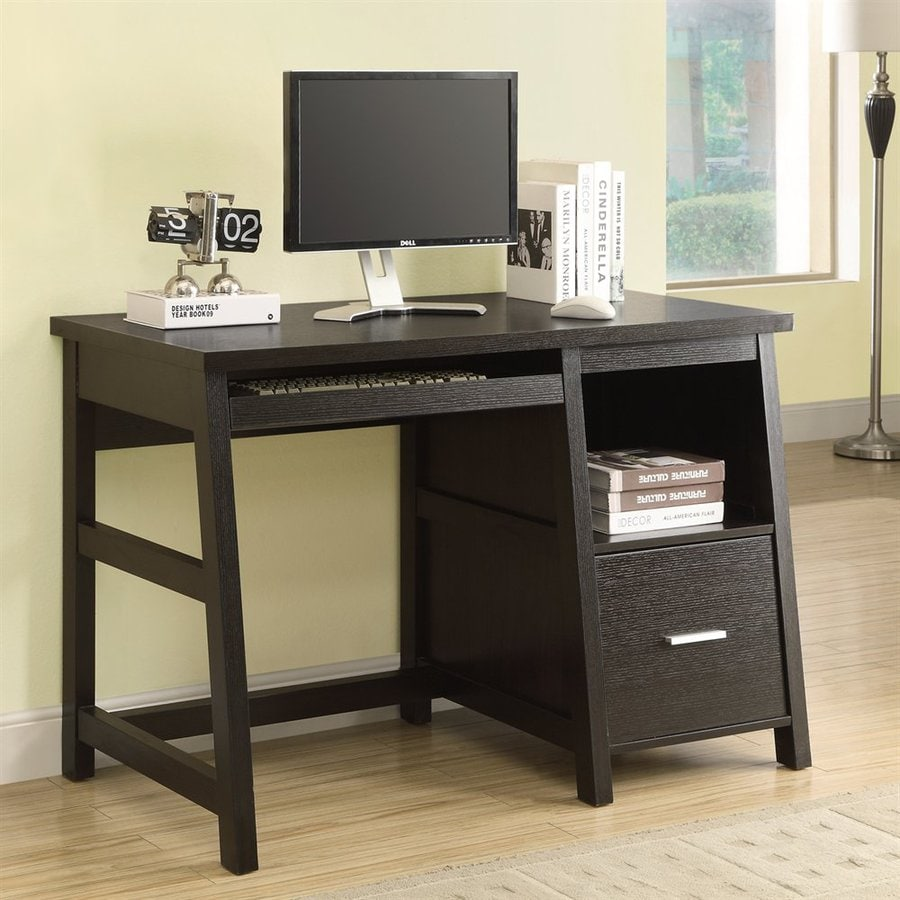 Shop Monarch Specialties Cappuccino Computer Desk At Lowes Com