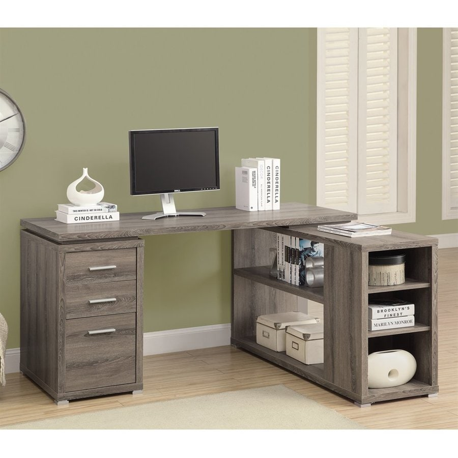 Shop Monarch Specialties Dark Taupe Corner Desk At Lowes Com