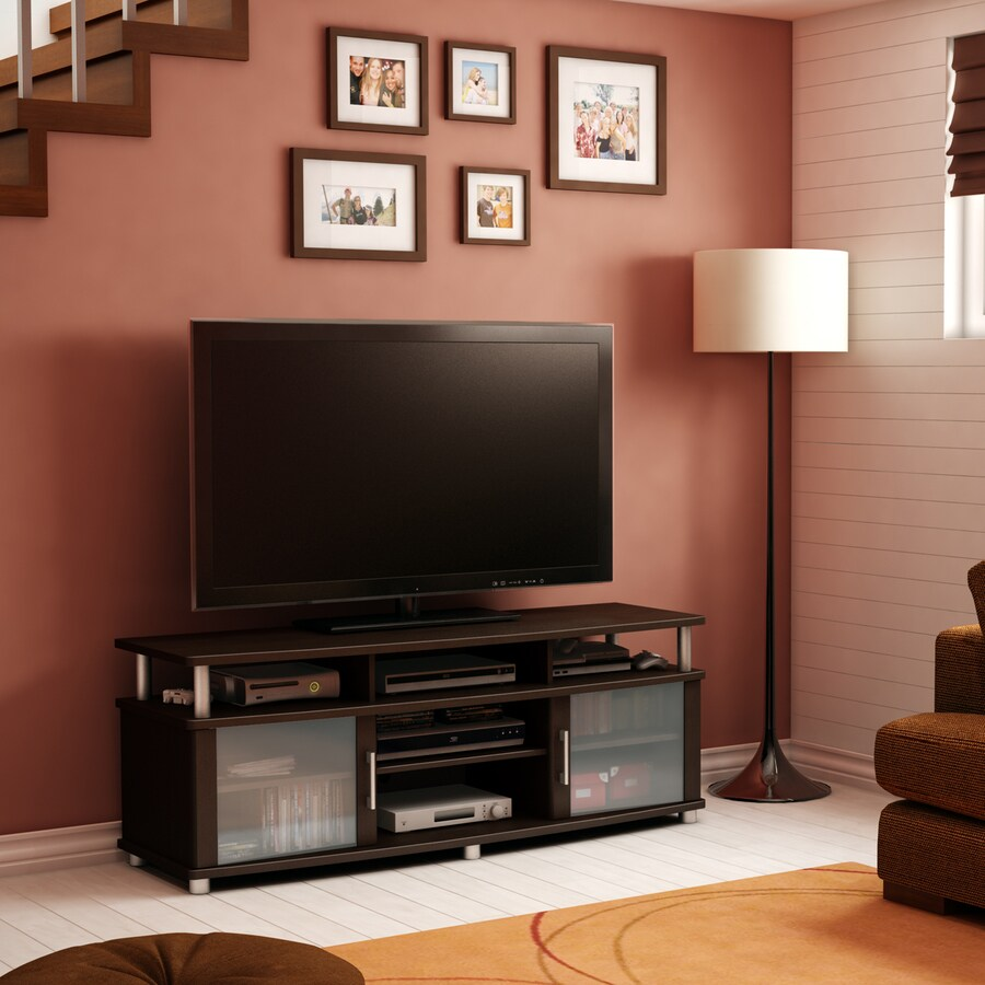 South Shore Furniture City Life Chocolate Rectangular Television Cabinet