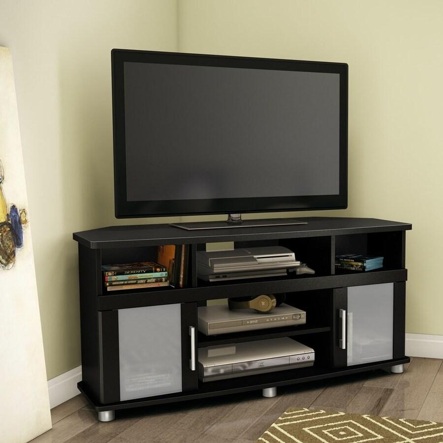 South Shore Furniture City Life Pure Black Corner Corner Television Stand