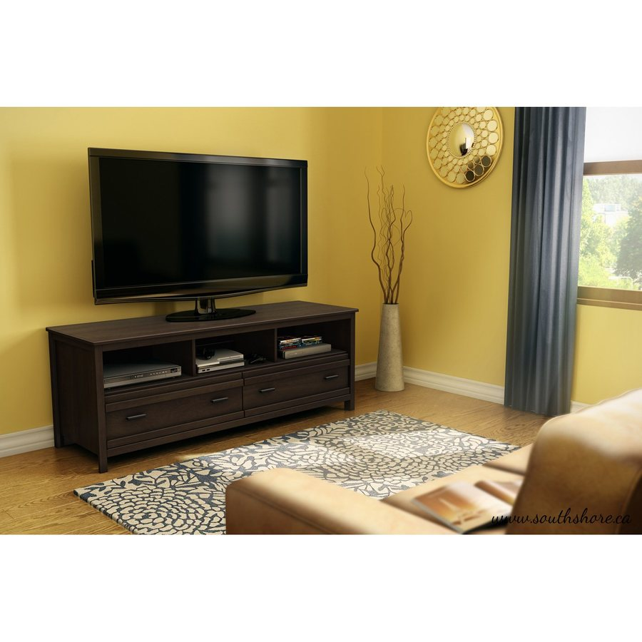South Shore Furniture Exhibit Mocha Rectangular Television Cabinet