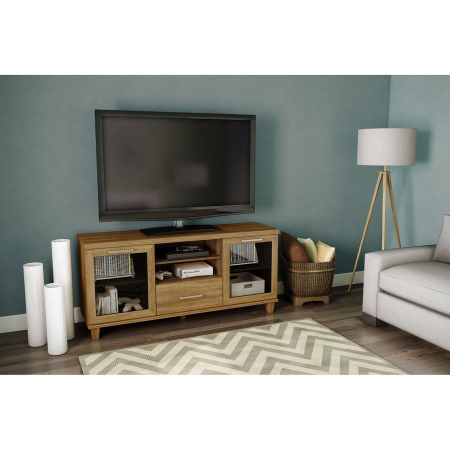 South Shore Furniture Adrian Harvest Maple Rectangular Television Cabinet