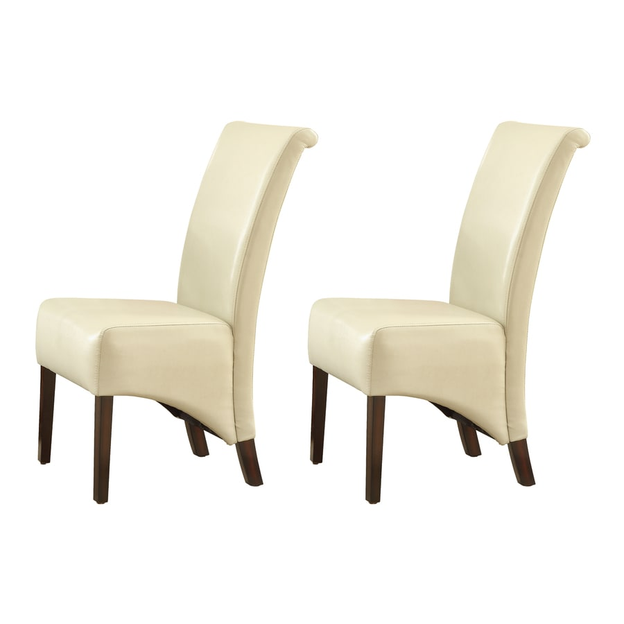 Shop monarch specialties set of 2 taupe side chairs with for Furniture leg pads lowes