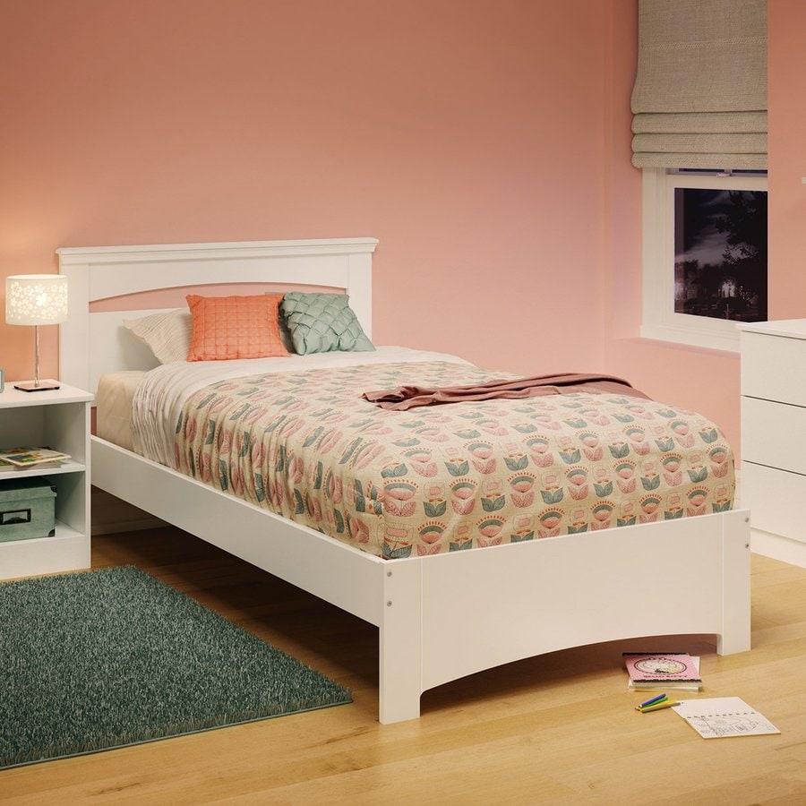 South Shore Furniture Libra Pure White Twin Panel Bed