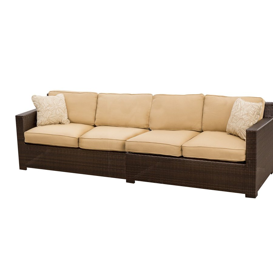 Hanover Outdoor Furniture Metropolitan 2-Piece Wicker Patio Conversation Set