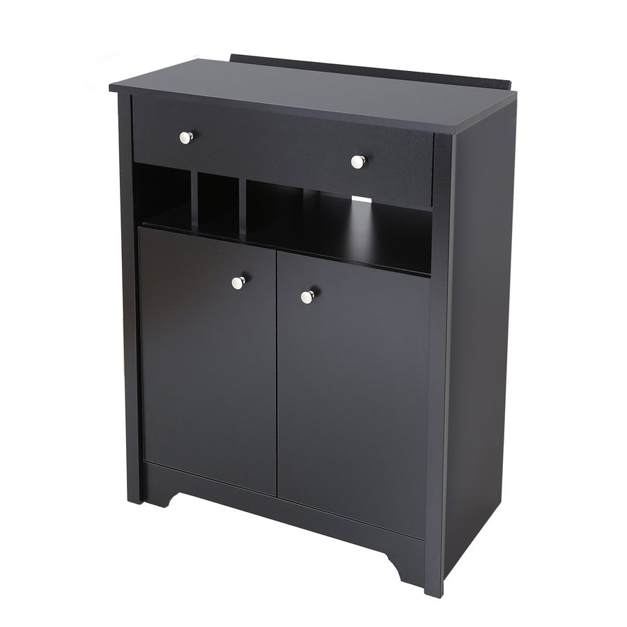 Shop South Shore Furniture Vito Pure Black 3 Shelf