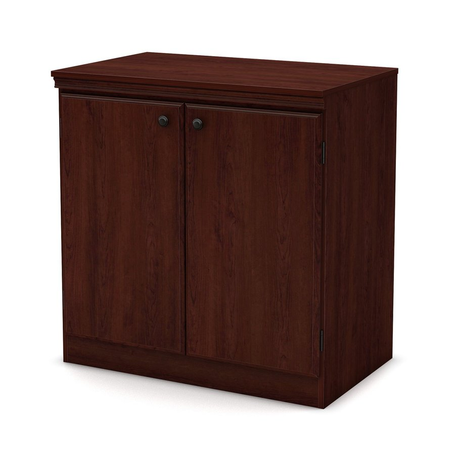 shop south shore furniture morgan royal cherry 2 shelf office cabinet