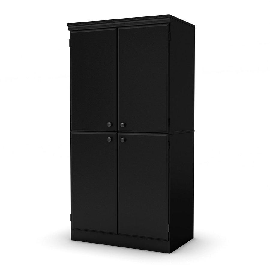 shop south shore furniture morgan pure black 4 shelf