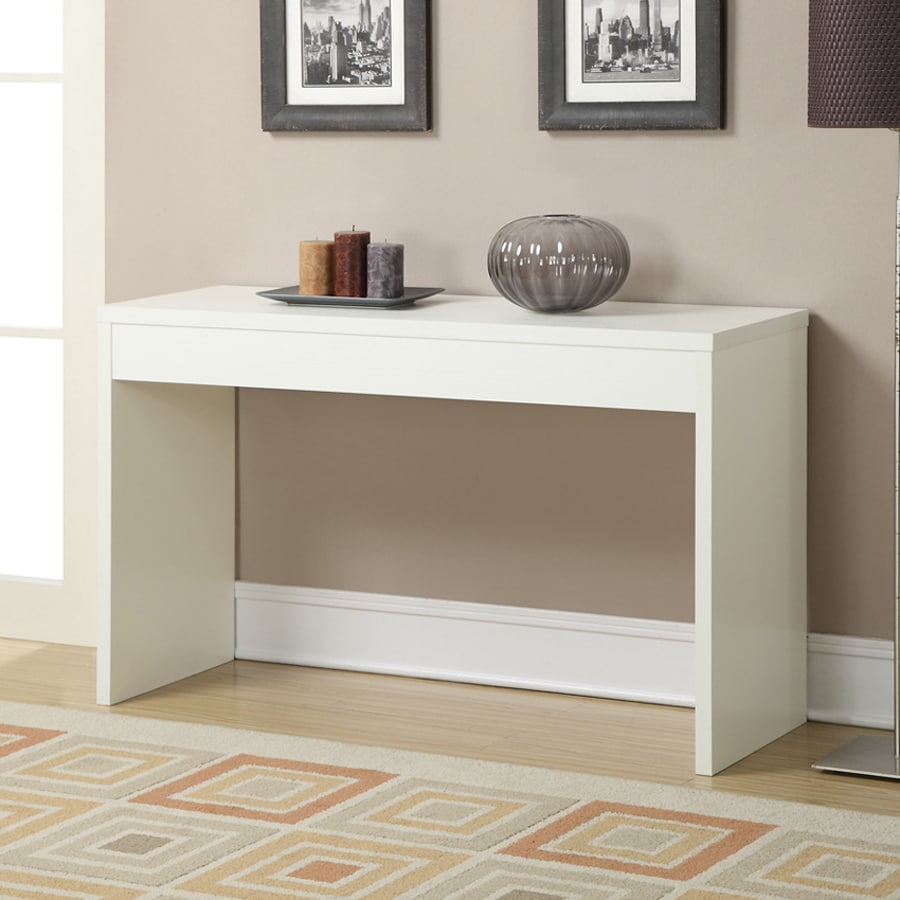 Convenience Concepts Northfield White Rectangular Console and Sofa Table