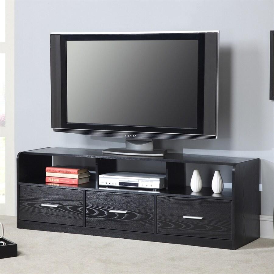 Convenience Concepts Designs2Go Black Rectangular Pedestal Television Stand