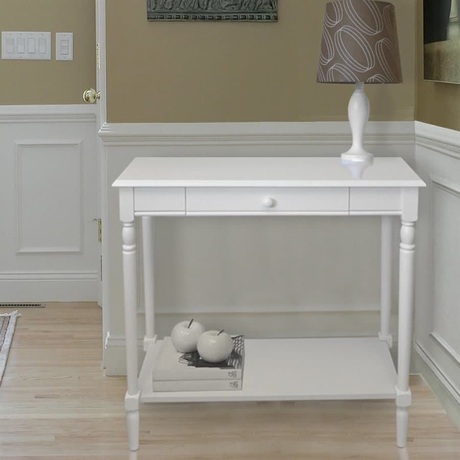 Convenience Concepts French Country White Rectangular Console and Sofa Table