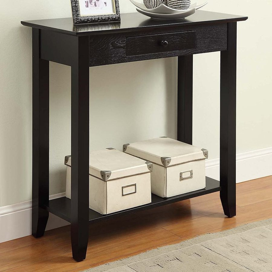 Convenience Concepts American Heritage Black Rectangular Console and Sofa Table