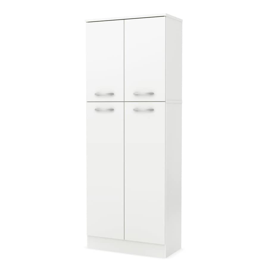 Shop south shore furniture 23 5 in w x 61 9 in h x 11 in d pure white pantry cabinet at - White kitchen storage cabinet ...