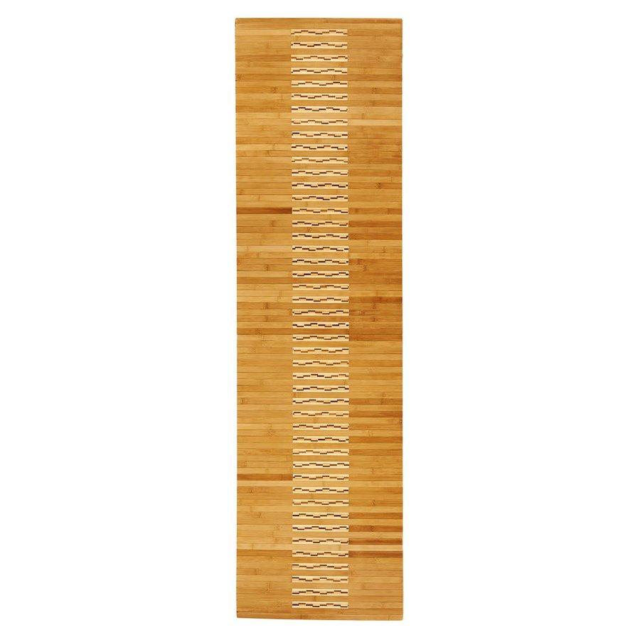 Anji Mountain 72-in x 20-in Natural Bamboo Bath Mat