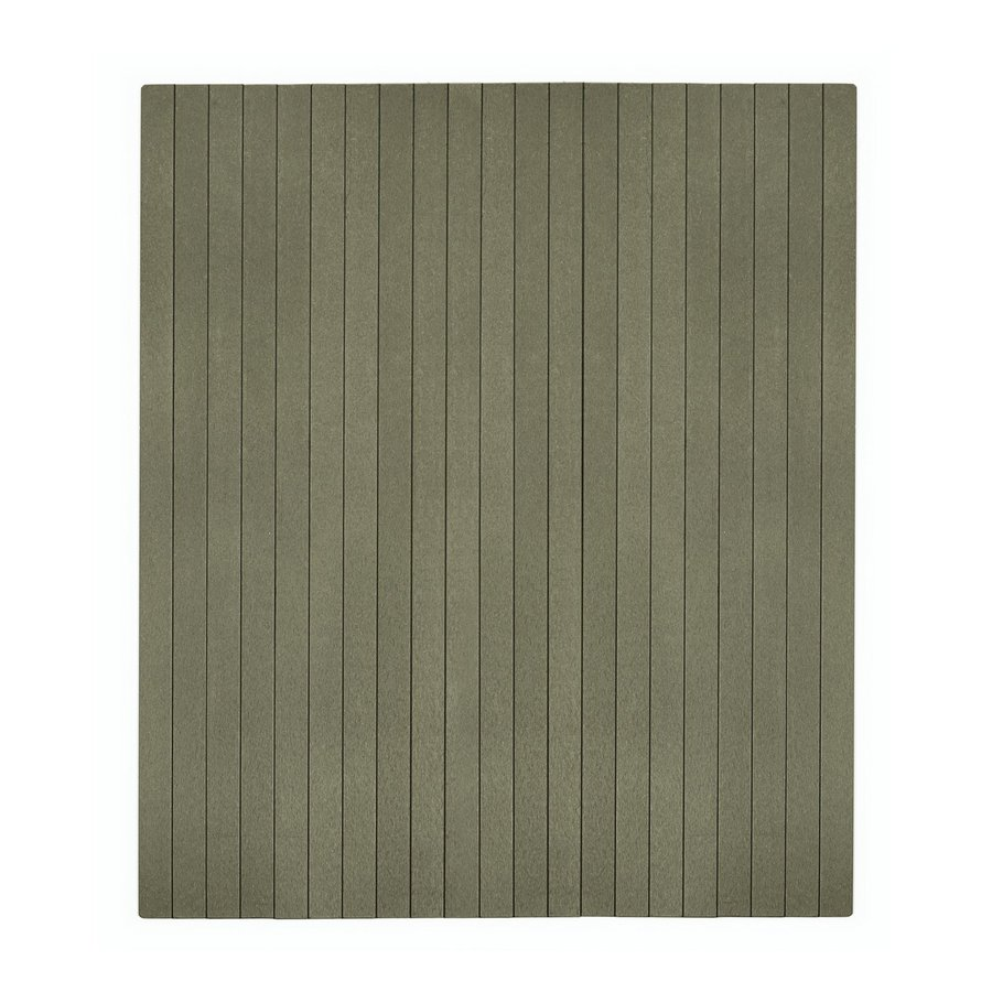 Anji Mountain Gray Chair Mat (Common: 4-ft x 4-ft; Actual: 3-ft 6-in x 4-ft)