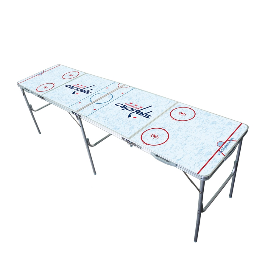 Wild Sports 96-in x 24-in Rectangle Extruded Aluminum White Washington Capitals Folding Table