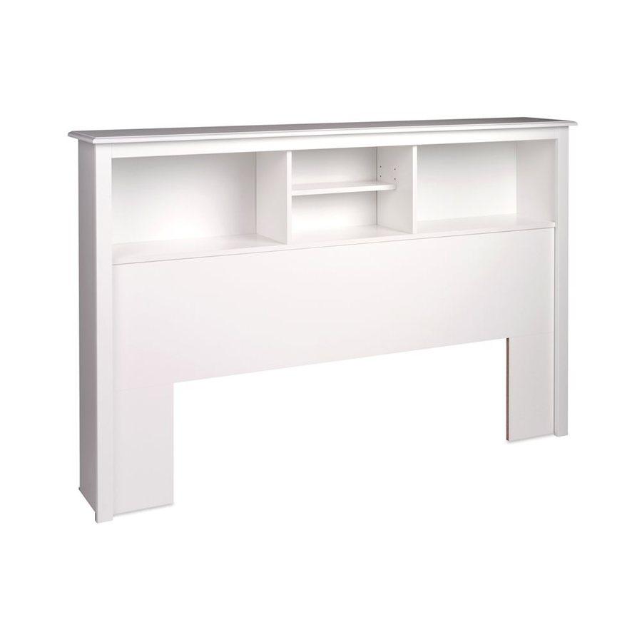 Prepac Furniture White Full/Queen Platform Storage Headboard