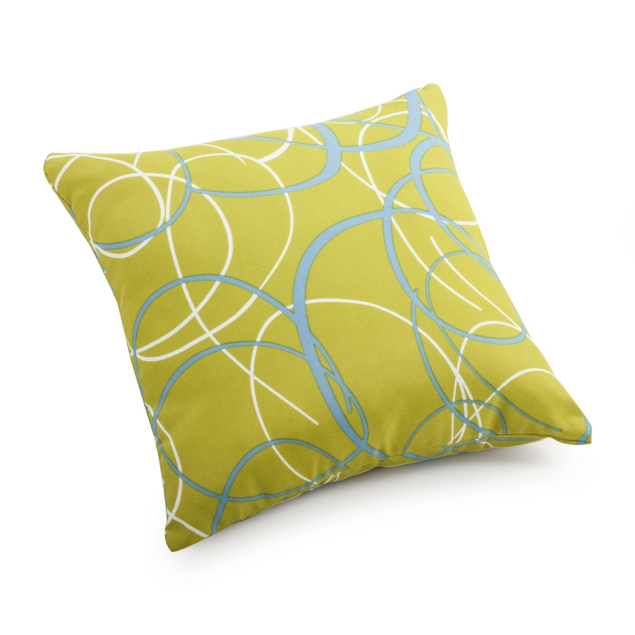 Square Decorative Pillows : Shop Zuo Modern Bunny Olive Green Geometric Square Throw Outdoor Decorative Pillow at Lowes.com
