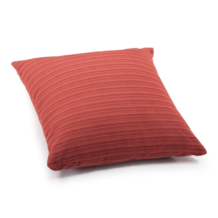 Shop Zuo Modern Doggy Rust Red Stripe Square Throw Outdoor ...