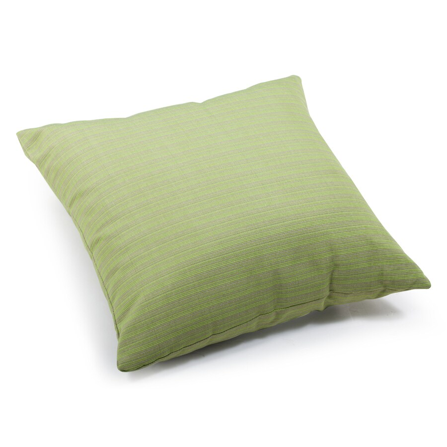 Modern Outdoor Pillow : Shop Zuo Modern Cat Apple Green Stripe Square Throw Outdoor Decorative Pillow at Lowes.com