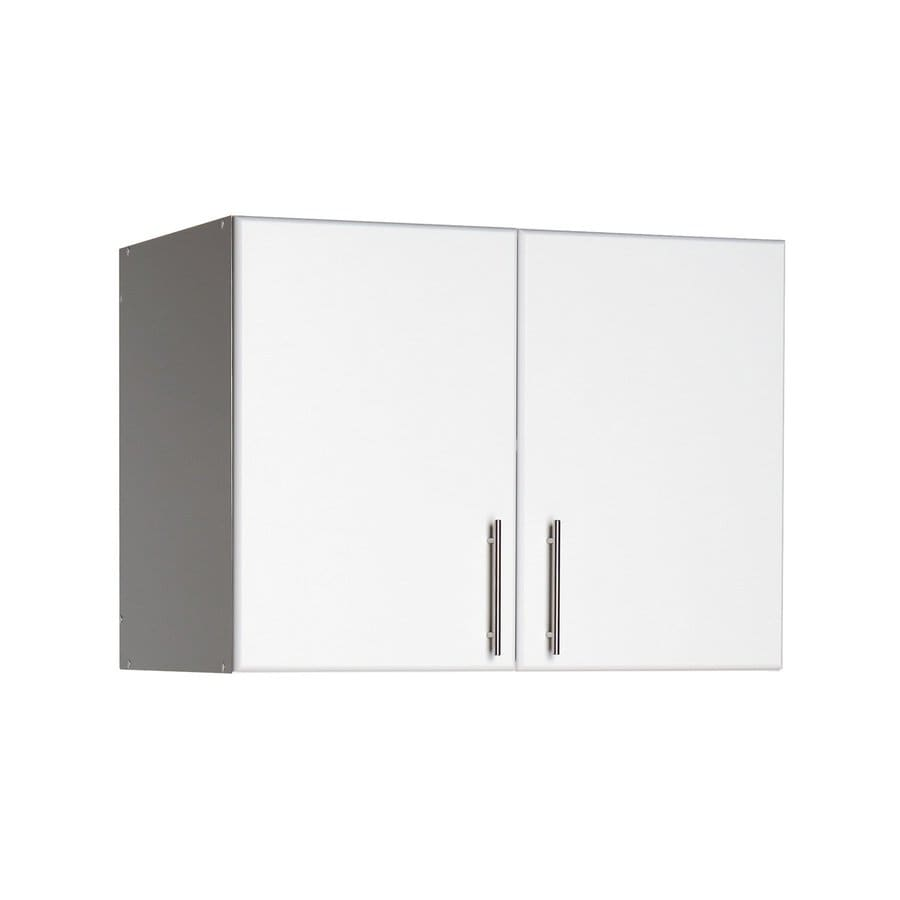 Shop prepac furniture elite 32 in w x 24 in h x 16 in d for Kitchen cabinets lowes with wavy metal wall art