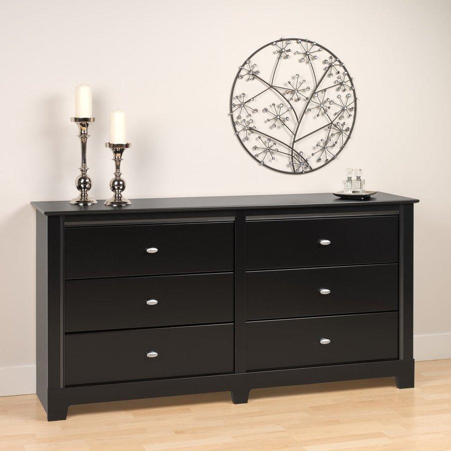 Prepac Furniture Kallisto Black 6-Drawer Dresser