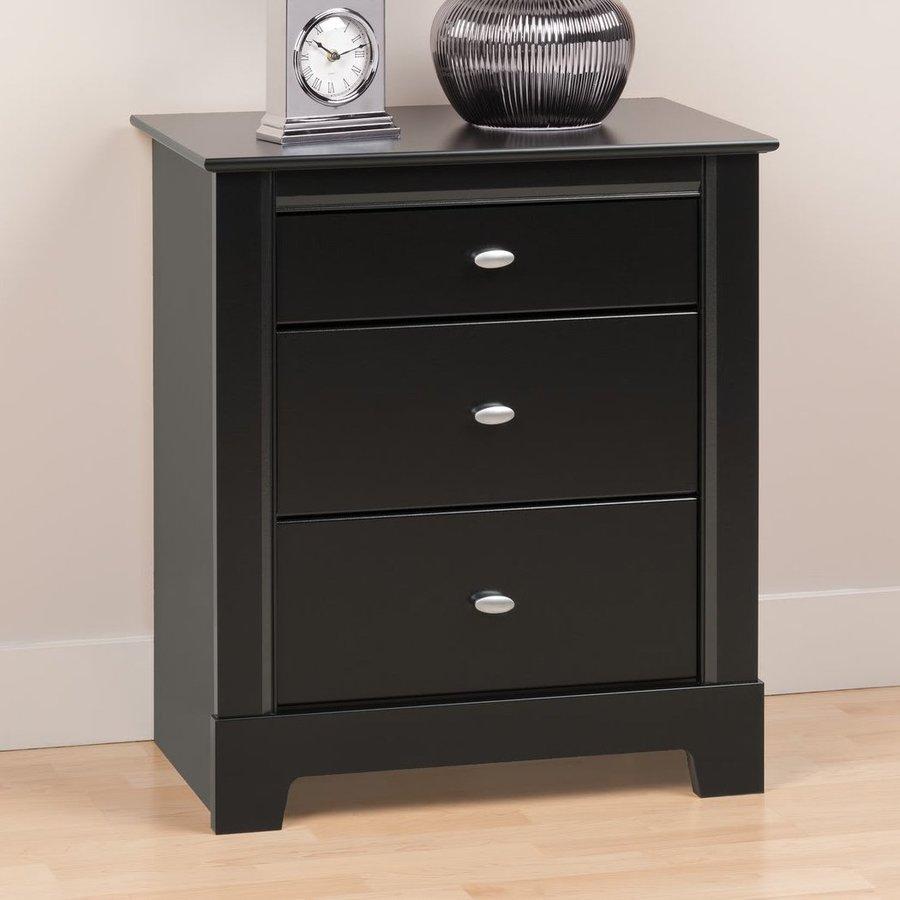Prepac Furniture Kallisto Black Nightstand
