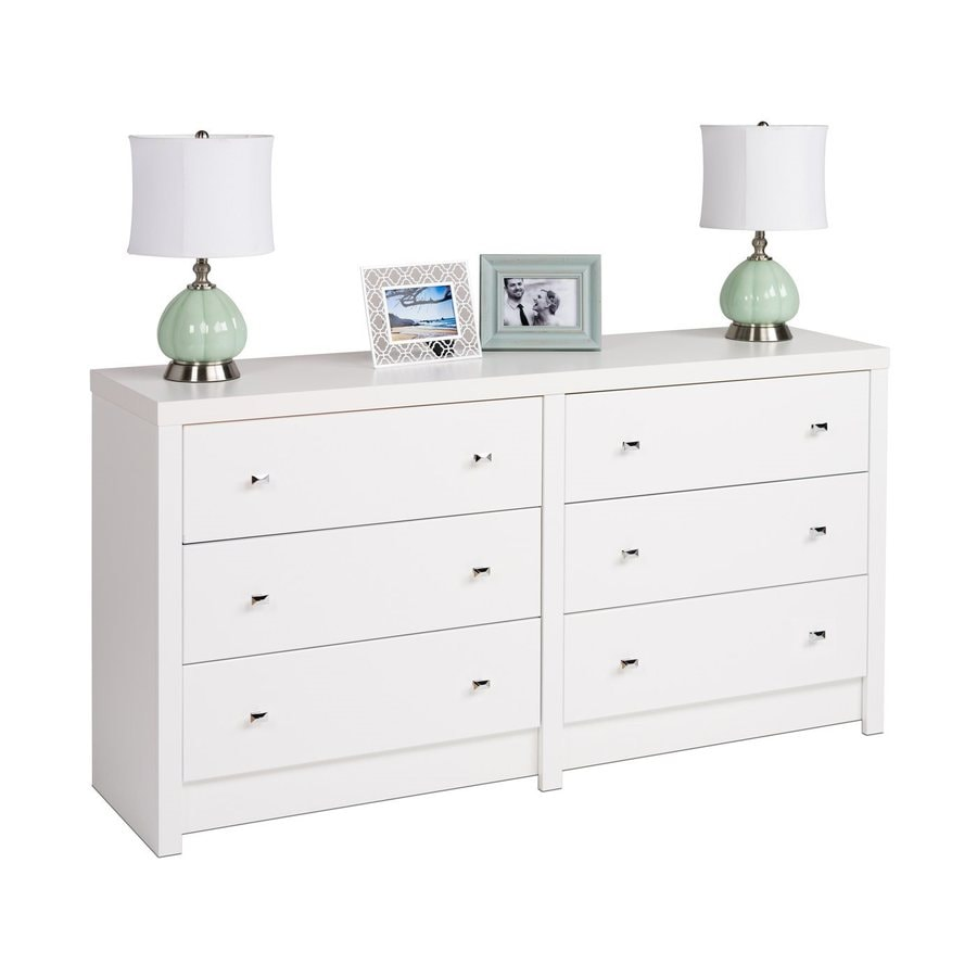 Prepac Furniture Calla White 6-Drawer Dresser
