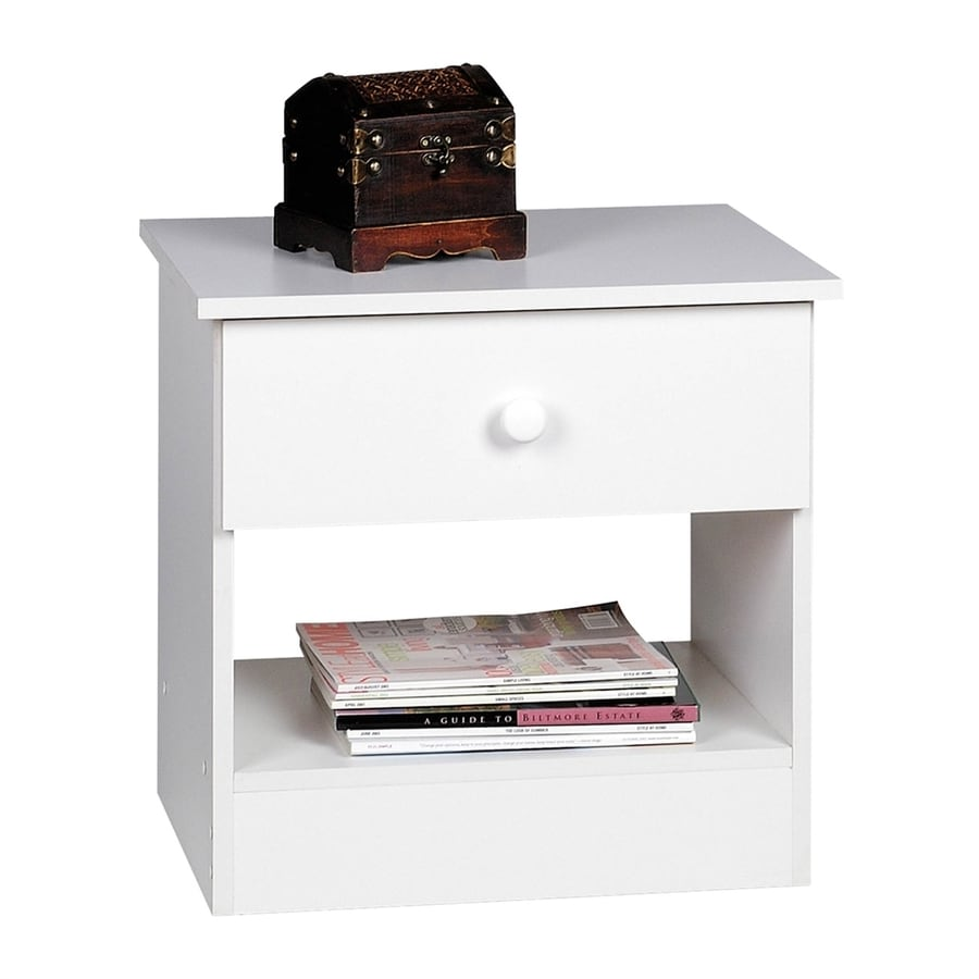 Prepac Furniture Edenvale White Nightstand