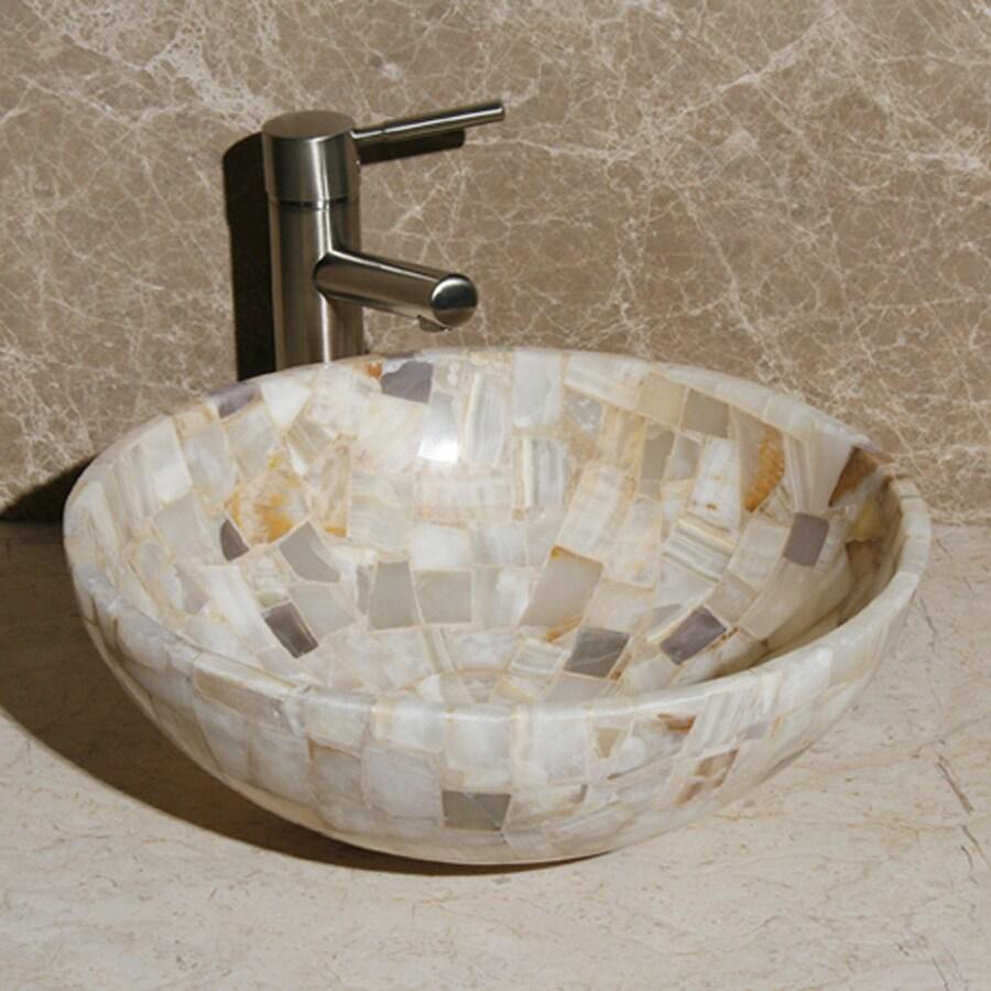 White Stone Vessel Sink : Shop Allstone White Stone Vessel Round Bathroom Sink at Lowes.com