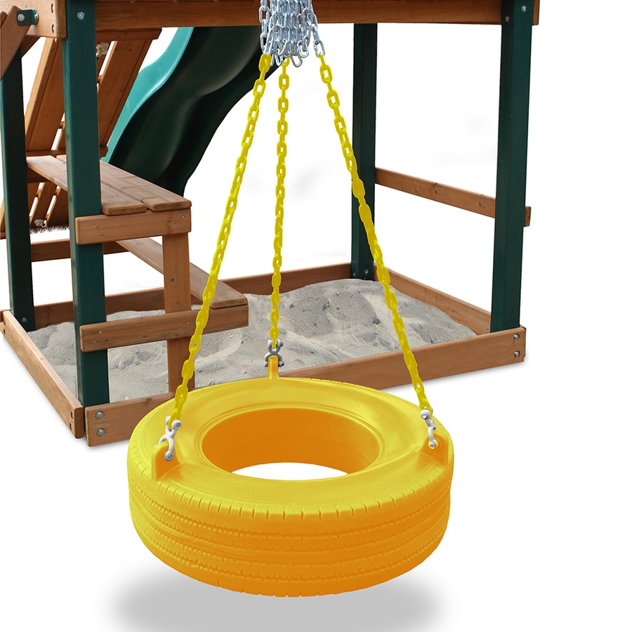 shop gorilla playsets turbo yellow tire swing  lowescom