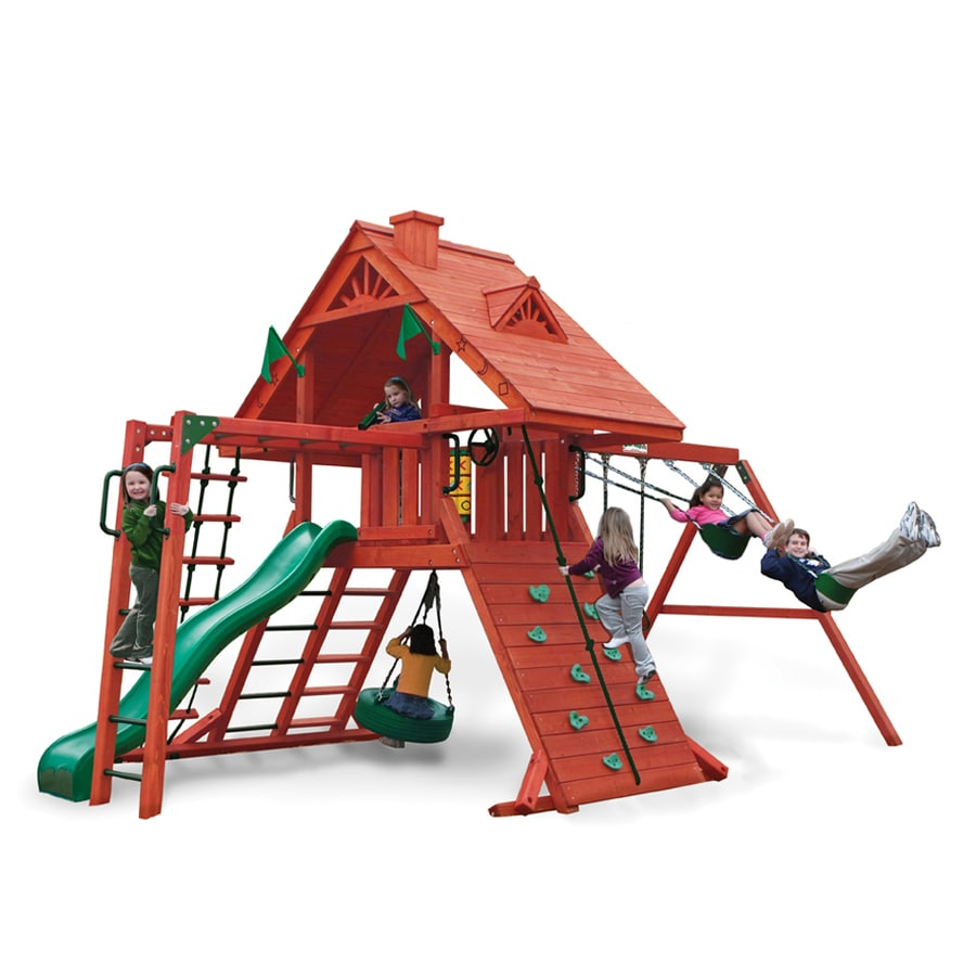 Shop gorilla playsets sun palace ii residential wood for Gorilla playsets
