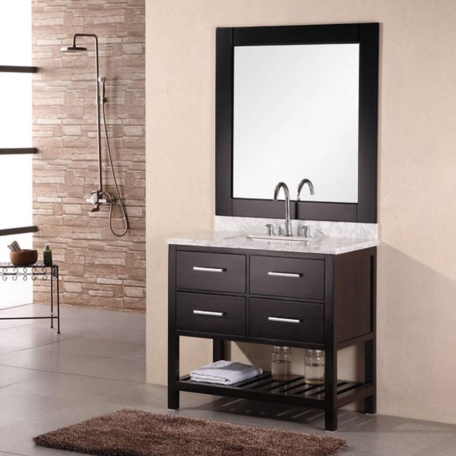 Unique  Furniture Ceramictop 24inch Single Sink Bathroom Vanity With Basket