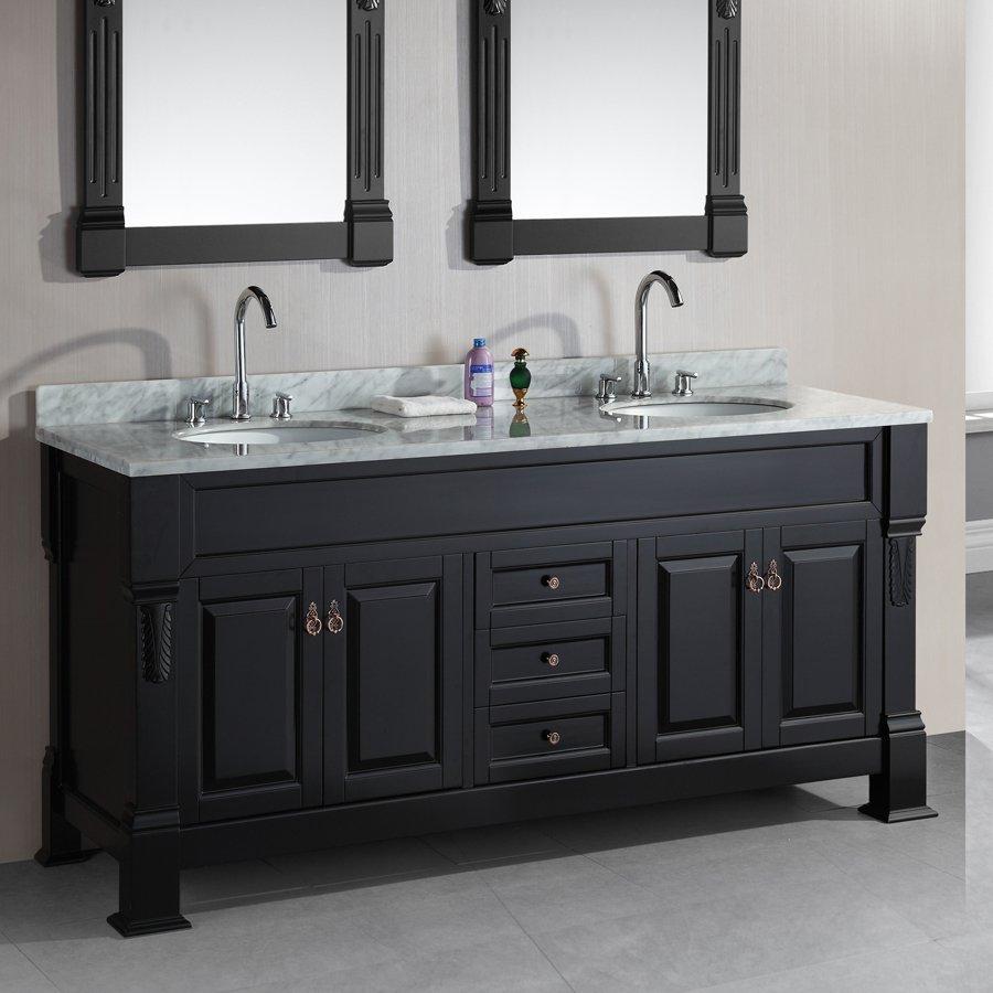 Shop Design Element Marcos Espresso Undermount Double Sink Oak Bathroom Vanity With Natural