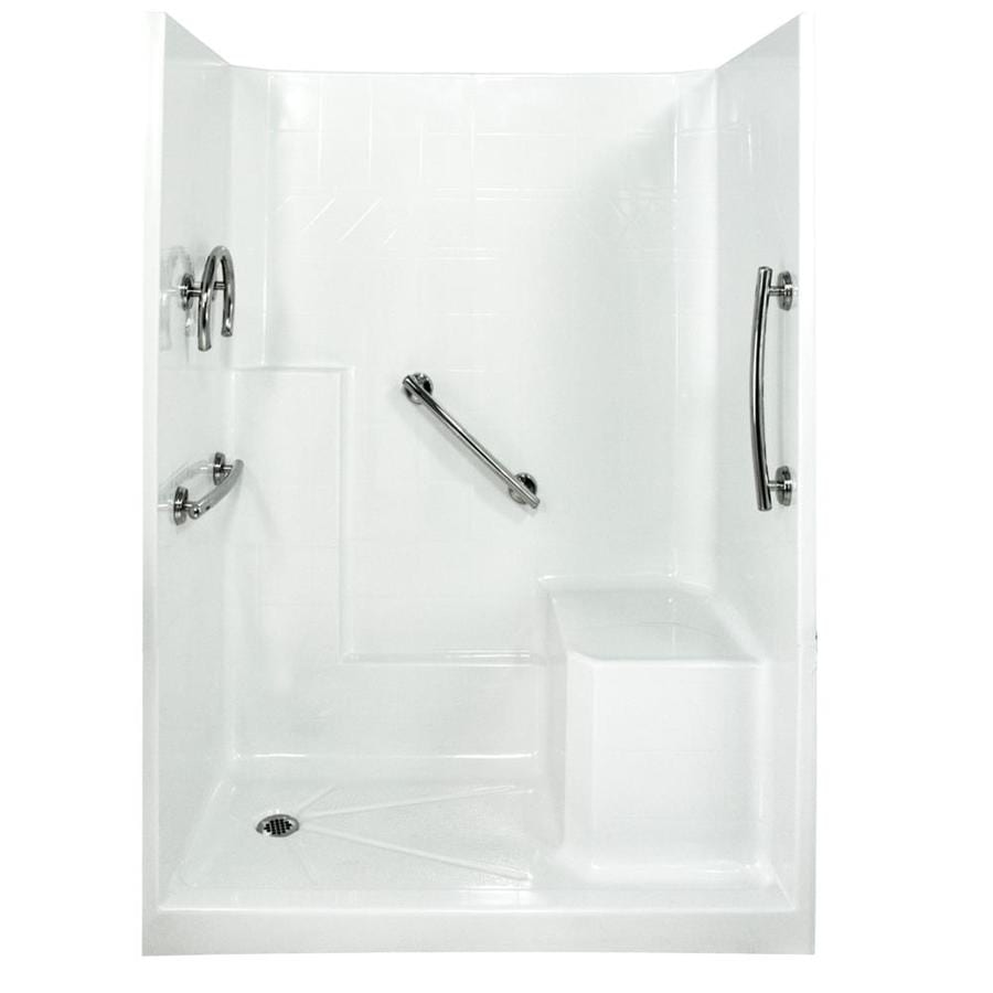 Ella's Bubbles Shower Wall Surround Side and Back Panels with Floor (Common: 33-in; Actual: 77.5-in x 33-in)