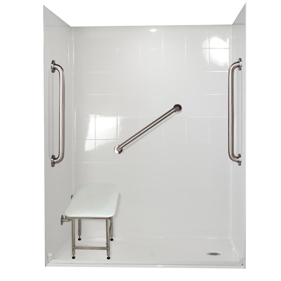 Ella's Bubbles Shower Wall Surround Side and Back Panels with Floor (Common: 31-in; Actual: 78-in x 31-in)